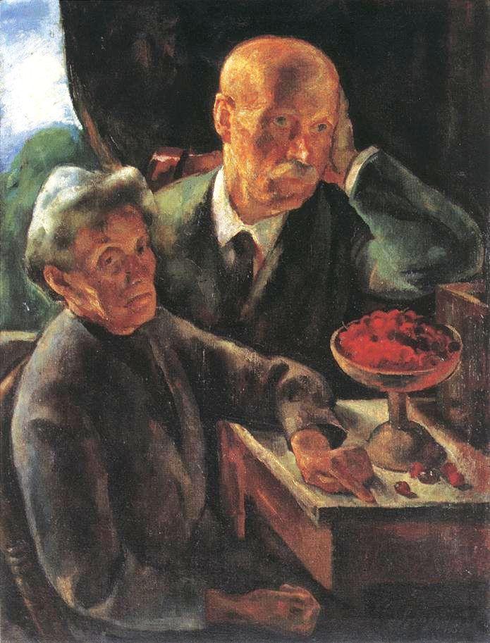 Szőnyi, István (1894-1960) - Elderly Couple (The Artist's parents) 1920