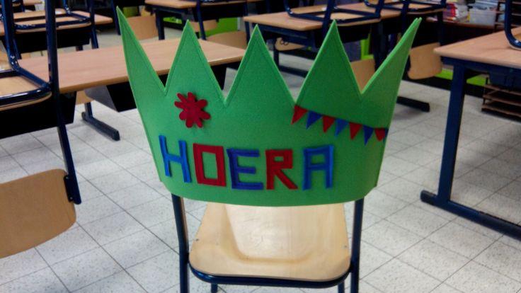 stoelkroon voor bij de verjaardagen in de klas