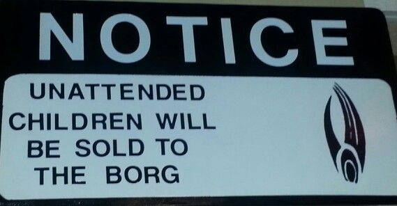 Nothing like star trek humor. the children will assimulate the borg who will all watch my pretty pony
