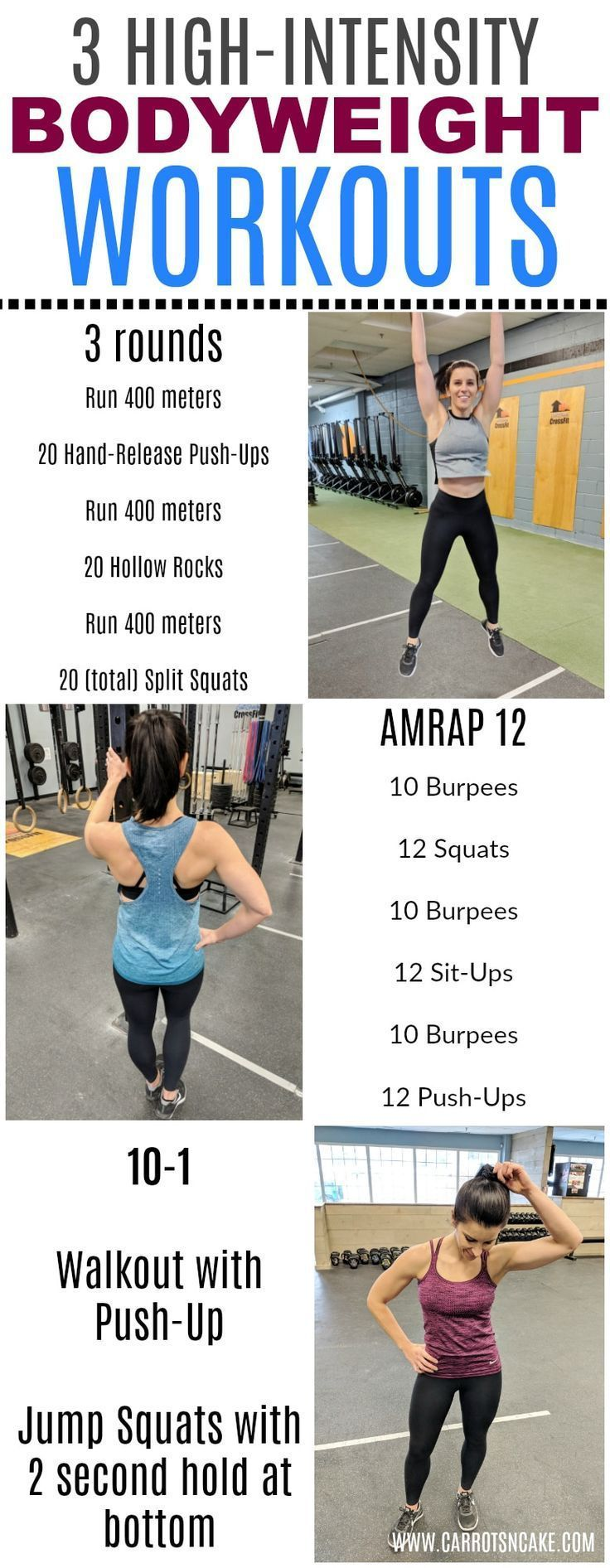 3 High-Intensity, Bodyweight Workouts for 2018 https://carrotsncake.com/2018/01/3-high-intensity-bodyweight-workouts-2018.html