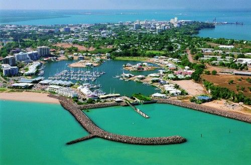 Darwin, Northern Territory, Australia The only city in Australia that was bombed in WWII and is famous for its hundreds of thousands of saltwater crocodiles.  So many, in fact, that no one, here, swims in the ocean!  Beautiful and very different city, though!