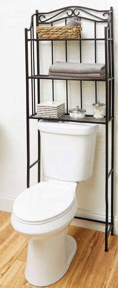 Bathroom Storage Over Toilet Stand Bath Space Saver Cabinet Towel Shelf Rack