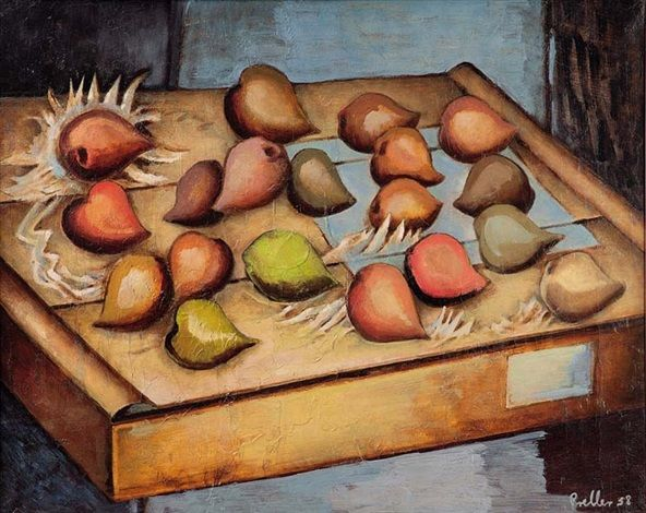 Alexis Preller (1911-1975) - A Box of Mangoes, 1958