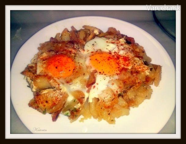 Cesnakové zemiaky s volským okom (fotopostup)