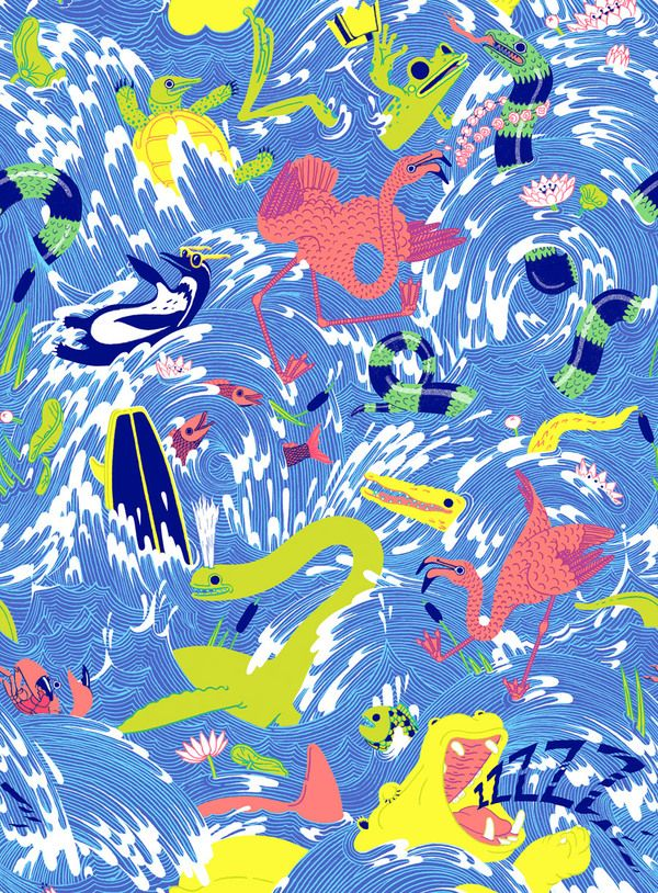 Lacoste L!ve | Micah Lidberg by Hugo & Marie , via Behance: Patterns Design, L Ve Patterns, Illustrations National, Art, Lidberg Micahlidberg Com, Micahlidberg Lacoste 01, Micah Lidbergillustr, Lacoste Lve, Lacoste L Ve