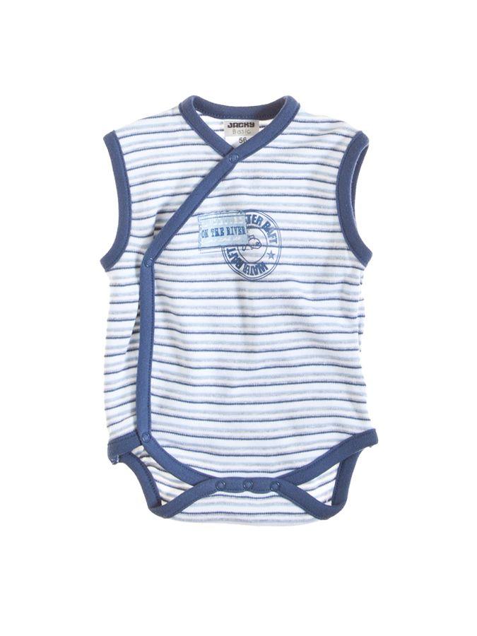 Kopertowe body bez rękawów w biało-niebieskie paski 23 PLN  #limango #dzieci #niemowlę #ubranka #wyprzedaż