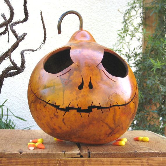 Halloween fall decoration pumpkin jack skellington orange - Jack skellington decorations halloween ...