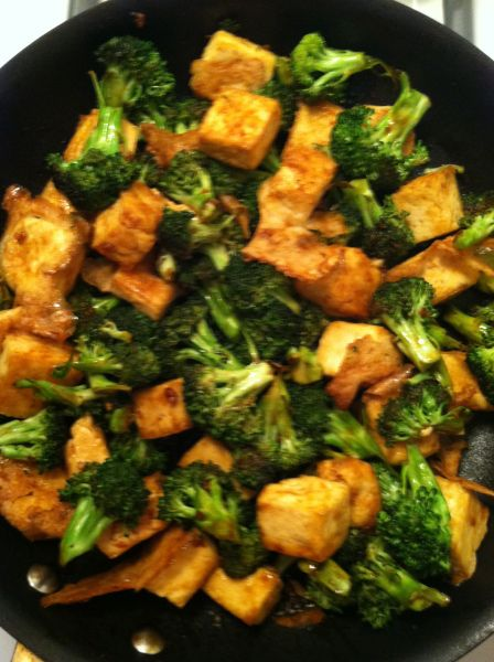 Mongolian Tofu. This is a super EASY way to make tofu. I have also baked tofu plain since I found this recipe and I love how it comes out. Prepared plain, the baked tofu is great to add to cold pasta/rice/quinoa/leaf salads. As well as eat it with your fingers! Yum!
