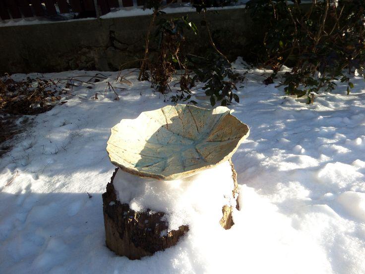 """miska """"liść kapuściany"""" w odsłonie zimowej"""