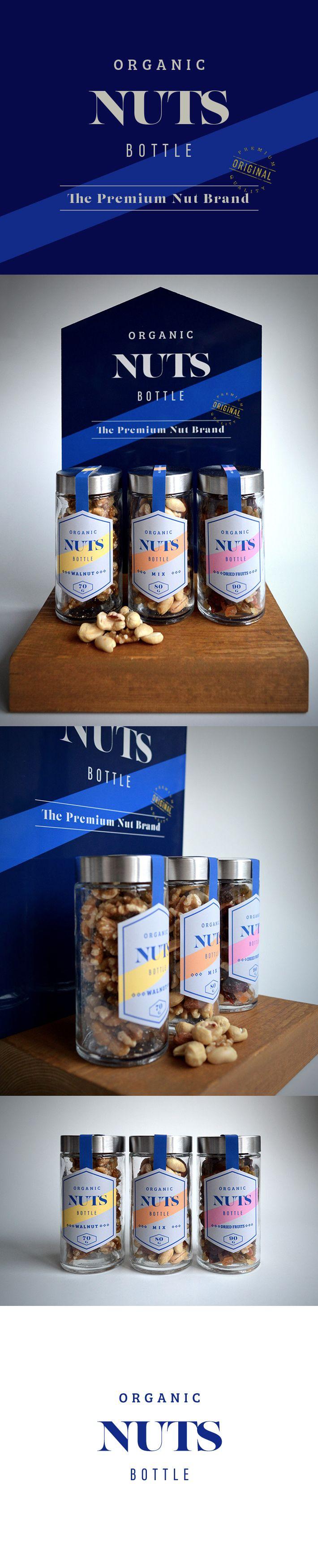 [Organic Nuts Bottle(Concept)] Designed by Takuji Omori #organic #packagedesign #branding