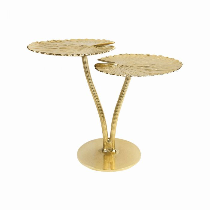 golden water lily leaf table graham green brass coffee table