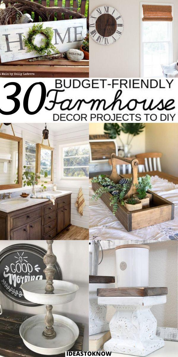 30 Cheap And Easy Diy Farmhouse Decor Ideas Farm Kitchen Decor Rustic Kitchen Tables Farm Style Kitchen