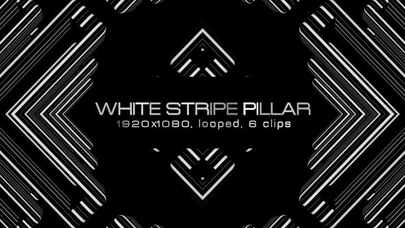 White Stripes Pillar Video Animation | 6 clips | Full HD 1920×1080 | Looped | Photo JPEG | Can use for VJ, club, music perfomance, party, concert, presentation | #black #disco #dynamic #edm #fast #loop #monochrome #moving #music #shape #stripes #techno #trap #vj #white