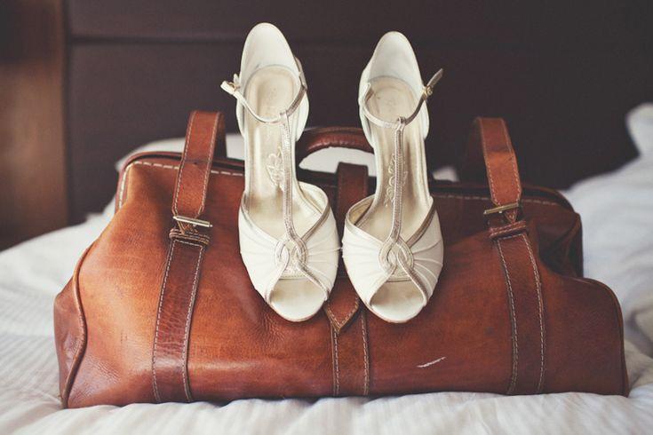 Rachel Simpson vintage wedding shoes