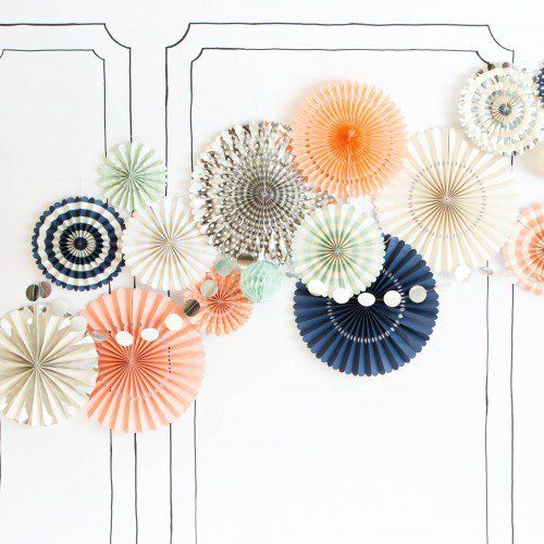 These colored pinwheel decorations are such a fun way to add some color to your wedding!                                                                                                                                                     More