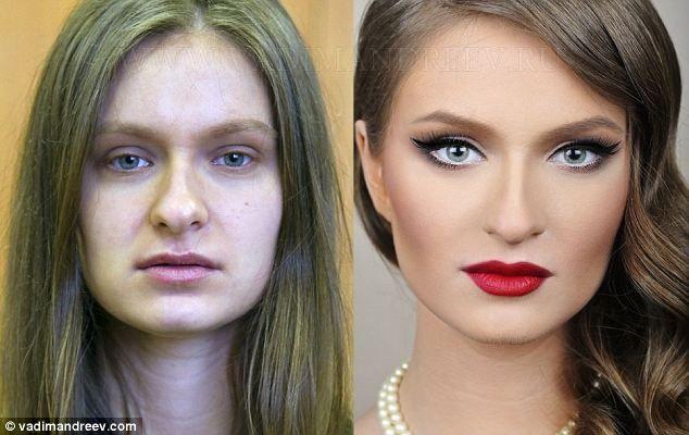Belleza superficial. Como el maquillaje puede hacer cambios radicales en minutos. Asi que no creas que hay mujeres perfectas.