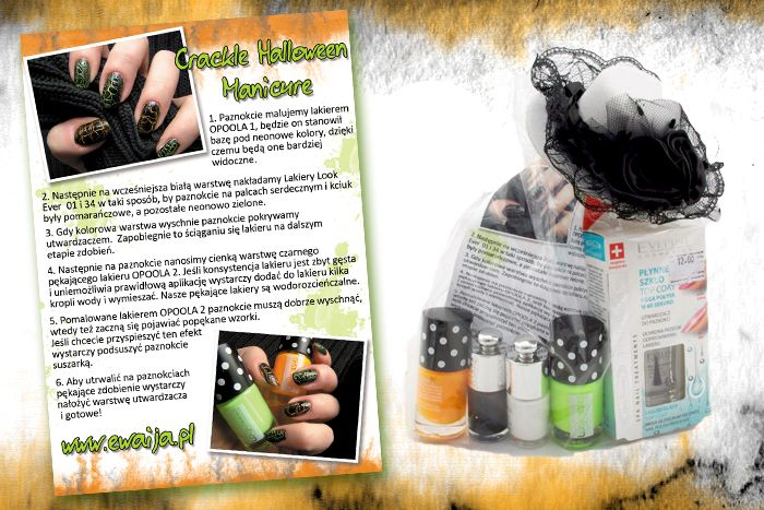 Halloween Crackle Manicure