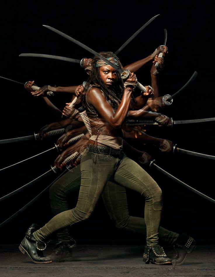 "Danai Gurrira as Michonne in ""The Walking Dead"": Season Five."
