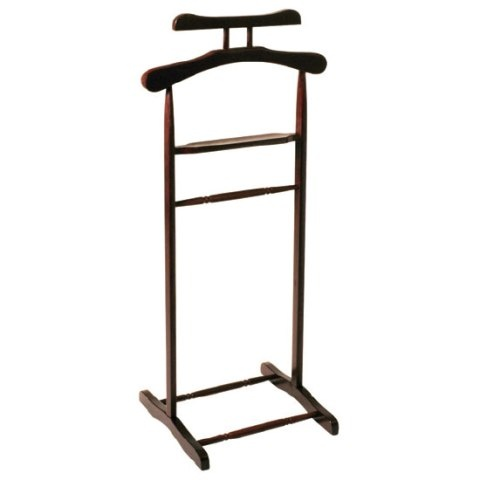 Wooden Clothes Valet Stand in tobacco, 30870