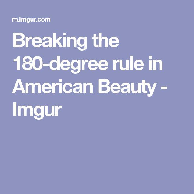 Breaking the 180-degree rule in American Beauty - Imgur