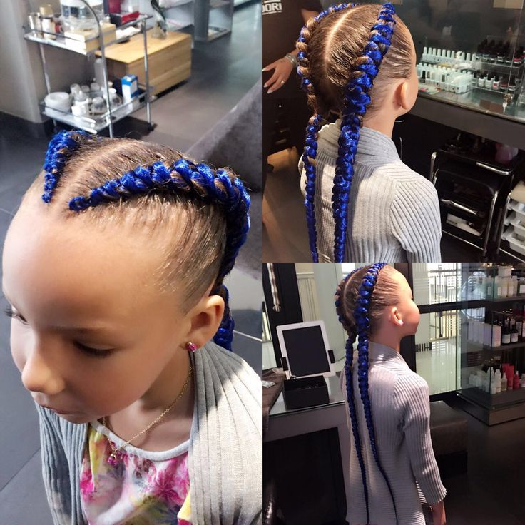 Funky kiddies colorful braids by Sandra at Midori!! Bring your kids along on your Midori visits for their hair..