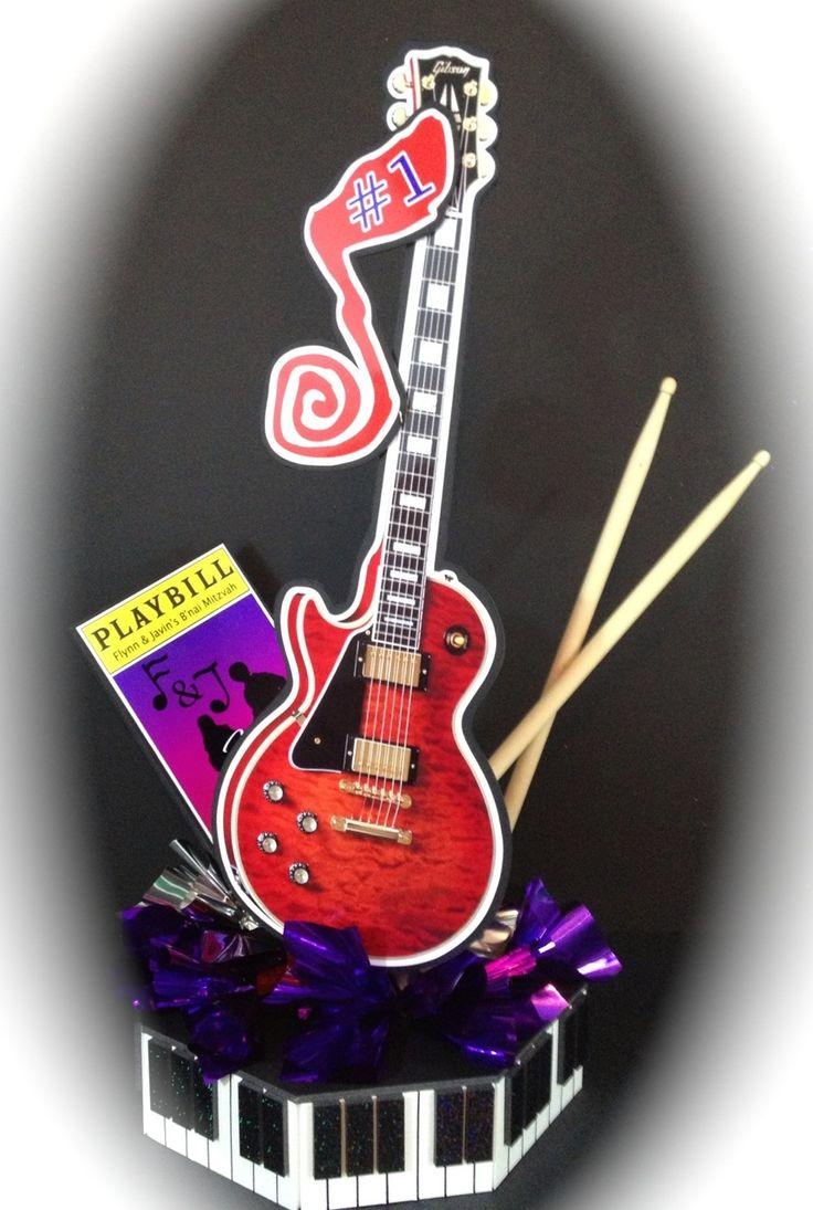 Decoration Theme Guitare : Best images about party decor on pinterest