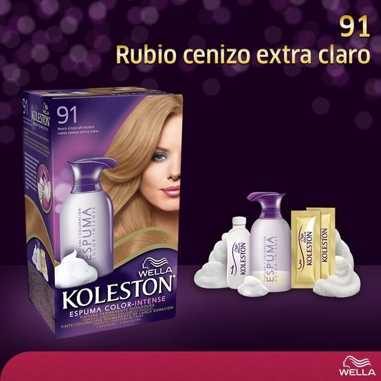 Koleston Espuma - 91 Rubio cenizo extra claro