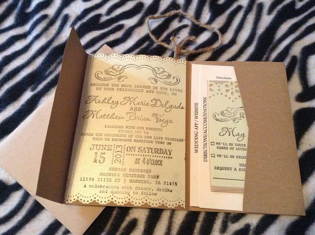 Rustic Wedding DIY Invites - with tutorial