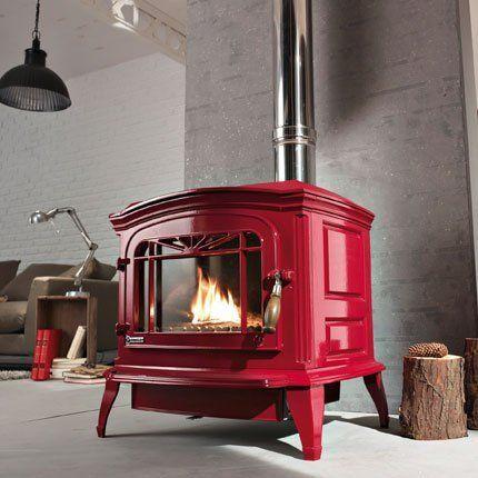 Le po le fait son apparition dans la maison idees decoration pinterest - Poele bradford rouge ...