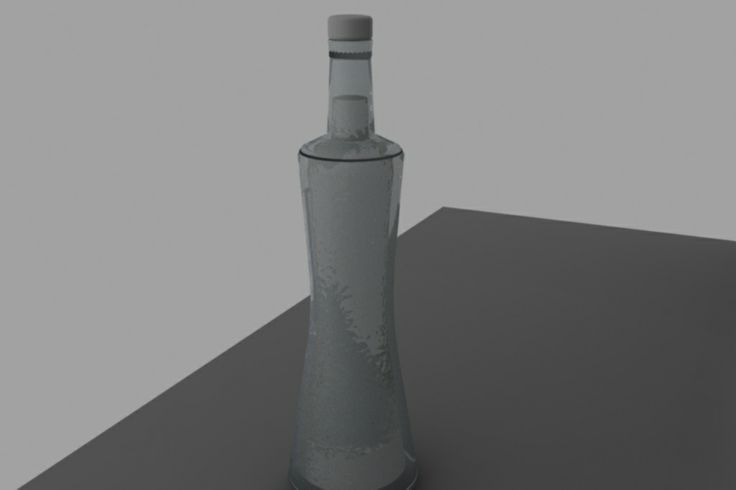 The alcohol bottle