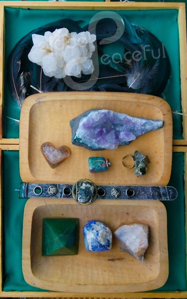 Peaceful People Crystals, Lapis Lazuli, Amethyst. Quartz, Agate, Pyrite.