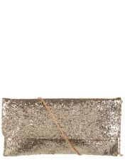 A metallic clutch - grab, go and enjoy the night!    For more versatility, choose the best precious metal shade for your skintone.
