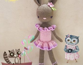 Kikalite crochet pattern Ballerina Bunny Charlotte PDP - 5 pages  •••••  Easy to follow instructions.  •••••  Size: ~ 28cm using Schachenmayr Catania and a 2,5 mm hook  •••••  Language: English (US terminology)  •••••