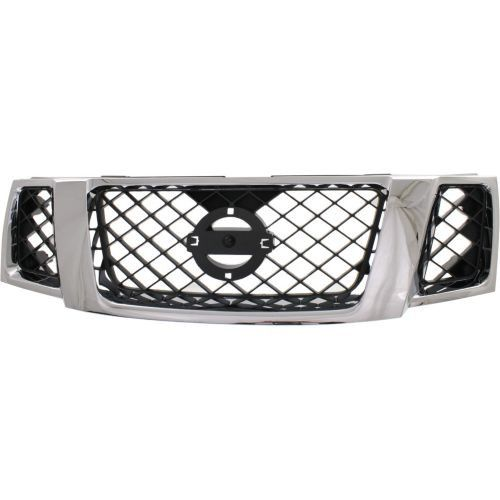 2008-2012 Nissan Pathfinder Grille, Chrome Shell/Black
