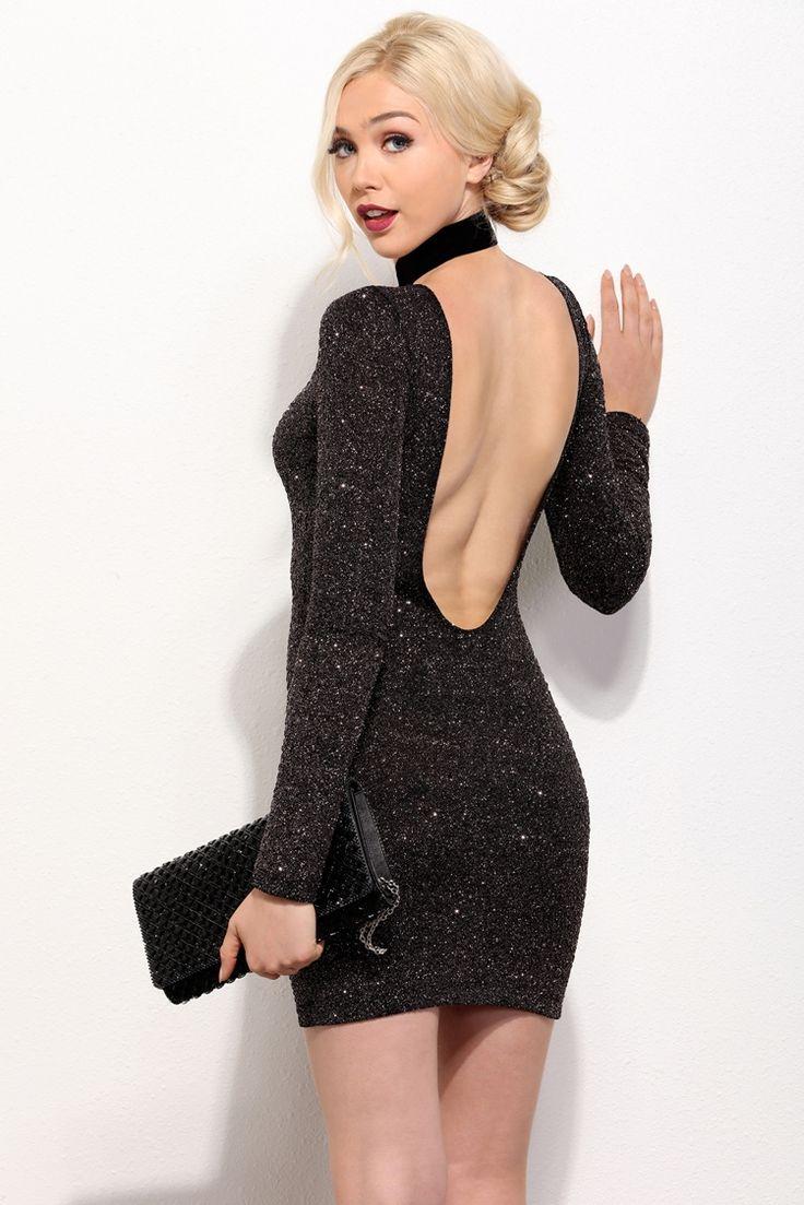 Jolie Black Flashing Lights Dress | WindsorCloud