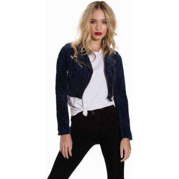 Rockandblue Annie Pig Softly ($275) ❤ liked on Polyvore featuring jackets, navy and womens-fashion