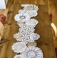 Check out these darling doily decorations (say that ten times fast) for sweet whimsical ways to dress up your home!