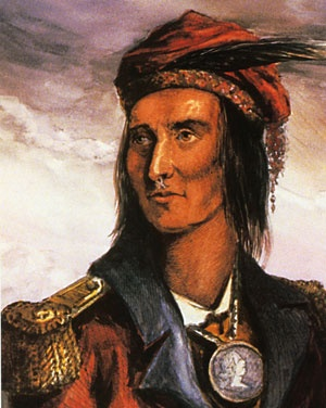 Timeline: War of 1812 : PBS, Chief Tecumseh, Shawnee Indian chief 1768-1813 (Killed at the Battle of Thames in Chatham, Ontario Oct 5, 1813)