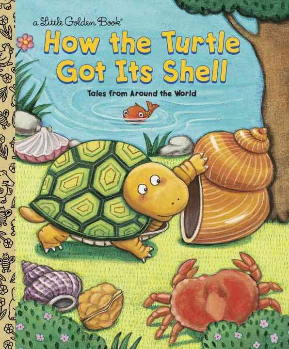Three tales from various sources explain how the turtle got its shell, and includes facts about turtles and their habits and appearance.