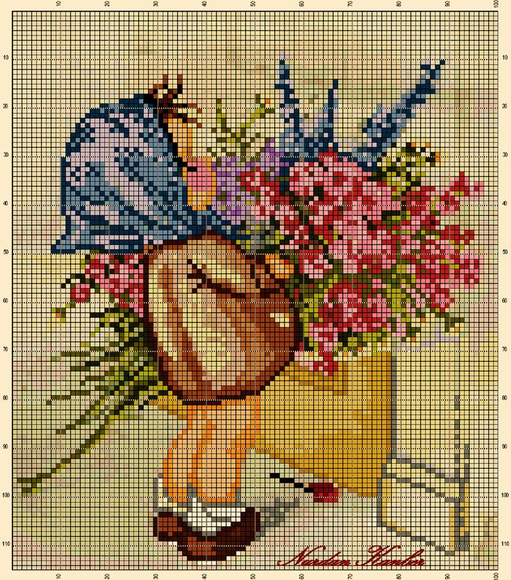 """Flower Seller"" An adaptation work from an old postcard"