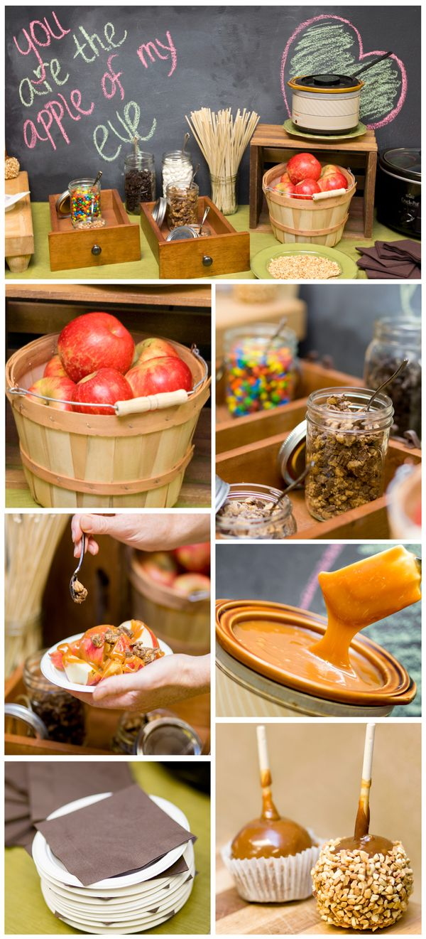You can't look away can you? It looks so absolutely delicious! We highly recommend having a caramel apple bar at your wedding for guests to create unique wedding favors, and it's a great alternative to the traditional wedding cake. They're also perfect for family gatherings over the holiday season.  We set out a crockpot of caramel and a crockpot of chocolate.  ...