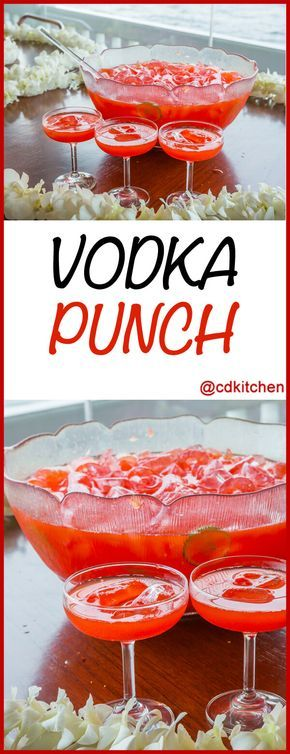The combination of cranberry juice, lemonade and 7-UP makes this a very refreshing punch. It's always a hit with large groups and you can't beat how simple it is to make. Hint: freeze additional cranberry juice in ice cube trays to use in place of regular ice.   CDKitchen.com