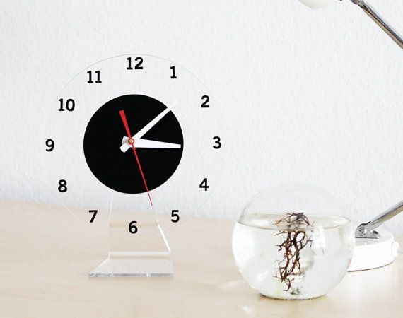 Floating Numbers - Modern Wall or Desk Clock by iluxo on etsy