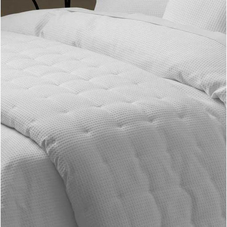 Ascot Waffle White Coverlet