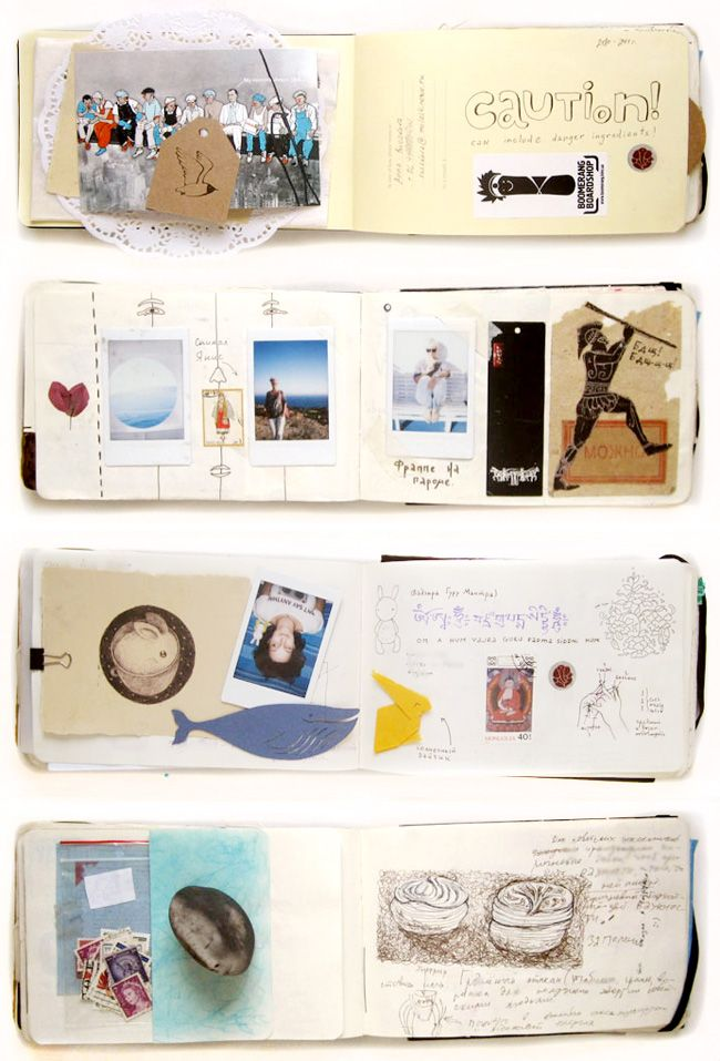 i love this. simple #collages, notes, drawings.