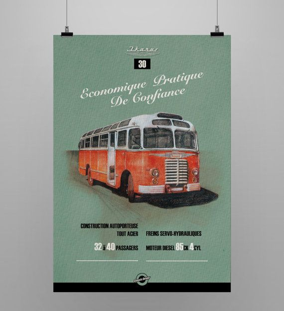 Ikarus 30 Text in french  Listign is for print only. Every print has a 5 cm white border for easy framing.