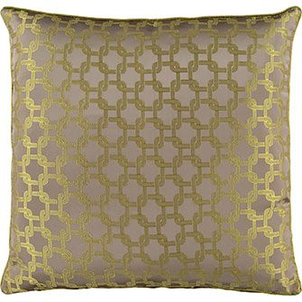 Green Lattice Cushion