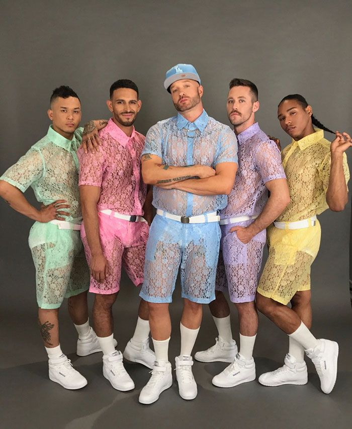 Designed by LA-based brand Hologram City, the shorts come in many different colors, including pink, blue, green, purple, and yellow. They're see through and made of all lace fabric, plus you can get a matching top to match them as well!  What do you think about them – yay or nay?