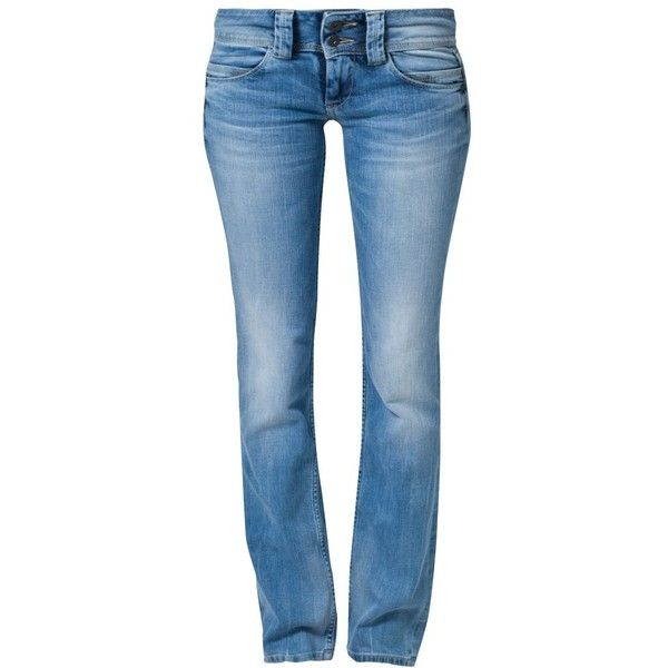 Pepe Jeans VENUS Jeans (6.585 RUB) ❤ liked on Polyvore featuring blue, slim fit, women's trousers and pepe jeans london