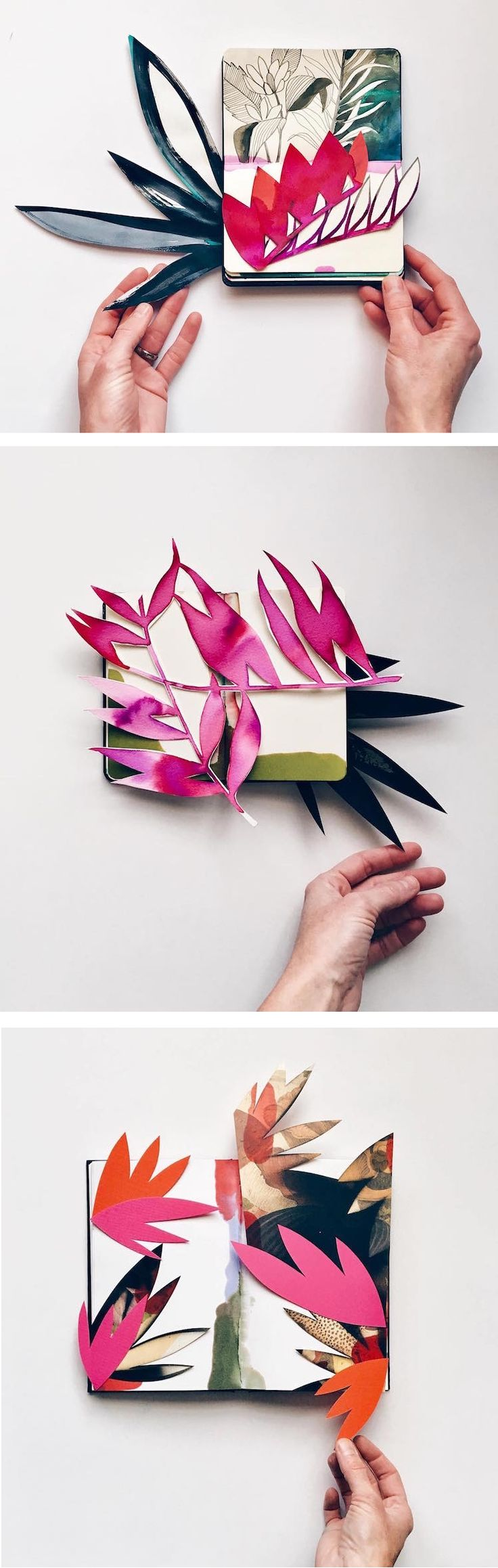 Sneak a peek at multi-media artist Eva Magill-Oliver's elegant collection of pop-up collages.